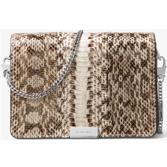 e01598b26a19 MICHAEL Michael Kors Bags | Nwt Jade Snakeskin Clutch | Poshmark